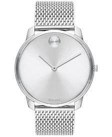 Movado Men's Swiss Bold Stainless Steel Mesh Bracelet Watch 42mm