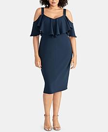 Plus Size Marcella Flounce Cold-Shoulder Dress
