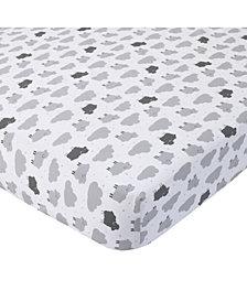 Carter's 100% Cotton Sateen Fitted Crib Sheet - Sheep Cloud