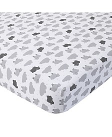 Carter's 100% Cotton Sateen Fitted Crib Sheet - Sheep Cloud