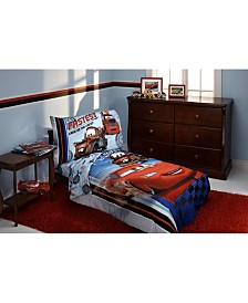 Disney Cars Fastest Team 4 Piece Toddler Bed Set