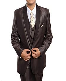Peak Lapel Classic Fit 2 Button Vested Suits for Boys