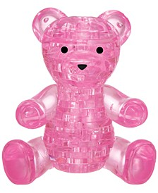 3D Crystal Puzzle-Teddy Bear Pink - 41 Pcs