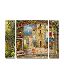 """Rio 'Capri Isle' Multi Panel Art Set Large - 41"""" x 30"""" x 2"""""""