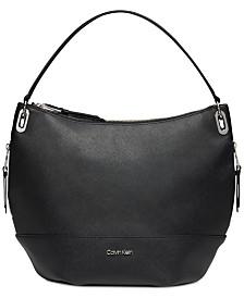 Calvin Klein Mercy Leather Hobo