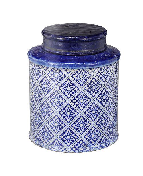 AB Home White Lidded Jar, Small