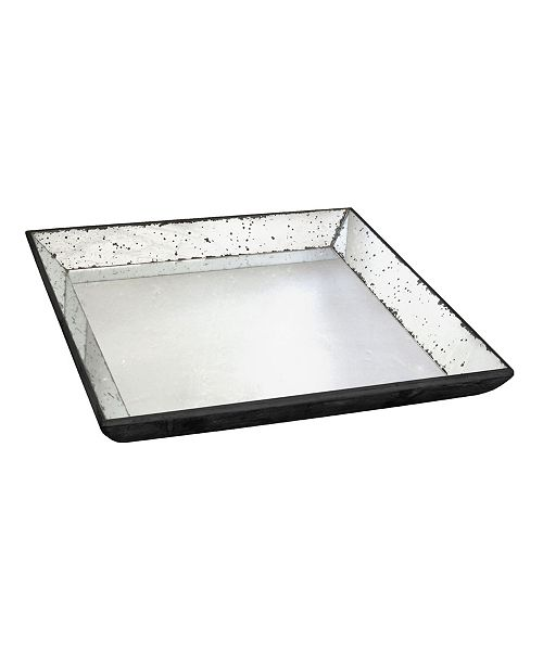 AB Home Waverly Mirrored Square Tray, Medium