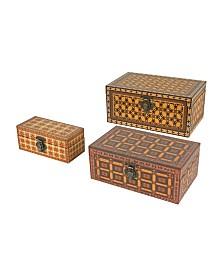 Nesting Print Box Margutry, Set of 3