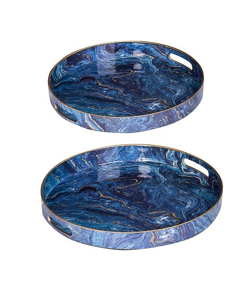 AB Home Modern Chic Trays, Set of 2