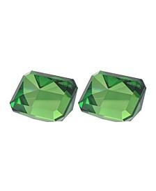 Faux Emerald, Rectangular, Set of 2