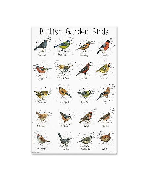 """Trademark Global Michelle Campbell 'Garden Bird Print' Canvas Art - 19"""" x 12"""" x 2"""""""