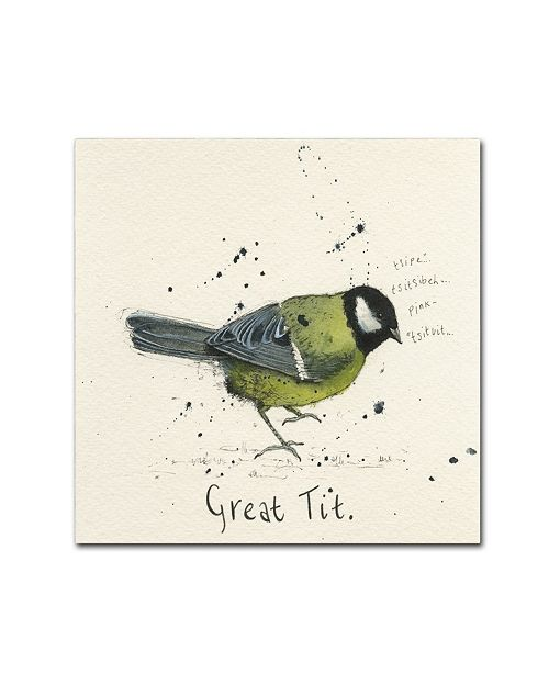 "Trademark Global Michelle Campbell 'Great Tit' Canvas Art - 18"" x 18"" x 2"""