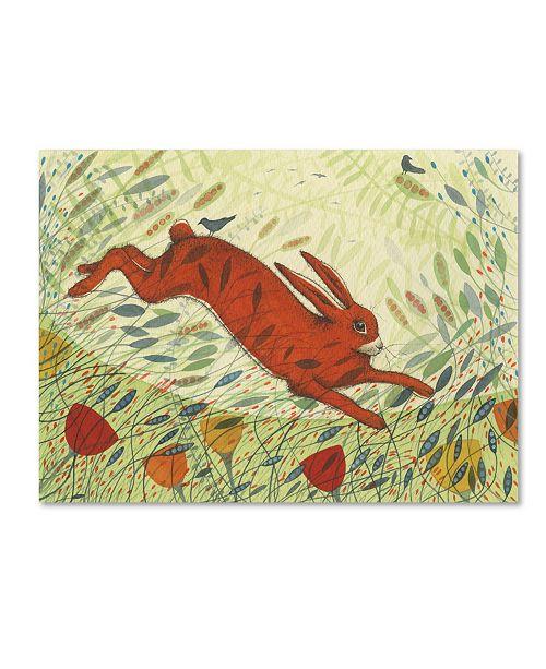 "Trademark Global Michelle Campbell 'Leap For Joy' Canvas Art - 32"" x 24"" x 2"""