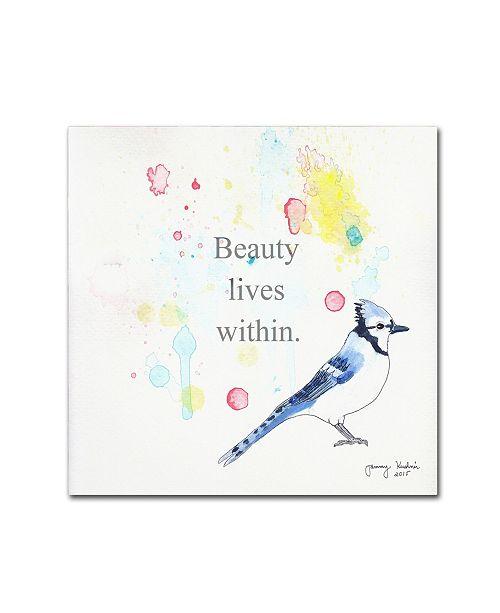 "Trademark Global Tammy Kushnir 'Beauty Lives Within' Canvas Art - 24"" x 24"" x 2"""