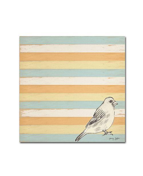 "Trademark Global Tammy Kushnir 'Bird Stripes' Canvas Art - 35"" x 35"" x 2"""