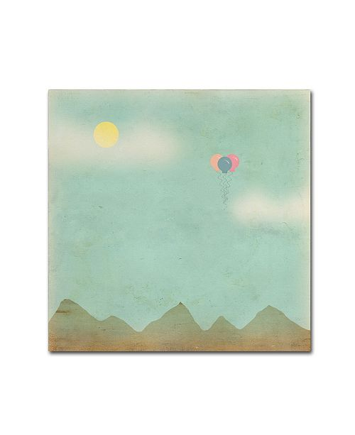 "Trademark Global Tammy Kushnir 'Over the Mountains' Canvas Art - 18"" x 18"" x 2"""