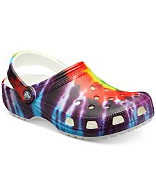 Crocs Men's Classic Tie-Dye Graphic Clogs