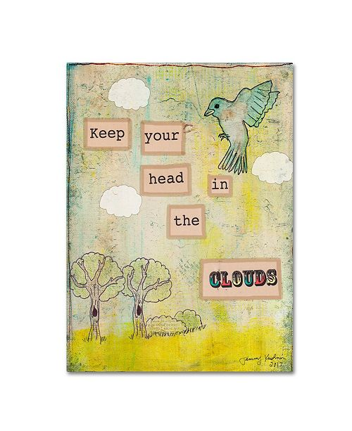 "Trademark Global Tammy Kushnir 'Keep Your Head In The Clouds' Canvas Art - 24"" x 18"" x 2"""