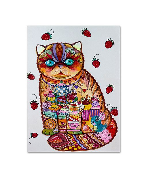 "Trademark Innovations Oxana Ziaka 'Tea And Cupcakes 3' Canvas Art - 24"" x 18"" x 2"""