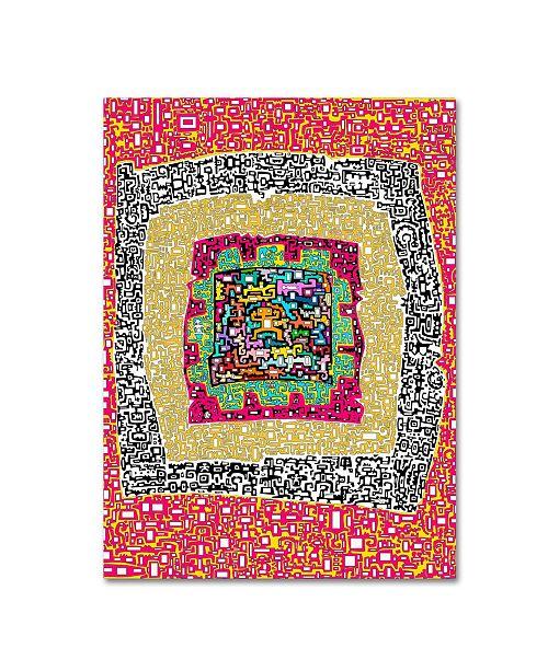 """Trademark Global Miguel Balbas 'Maze 6' Canvas Art - 19"""" x 14"""" x 2"""""""