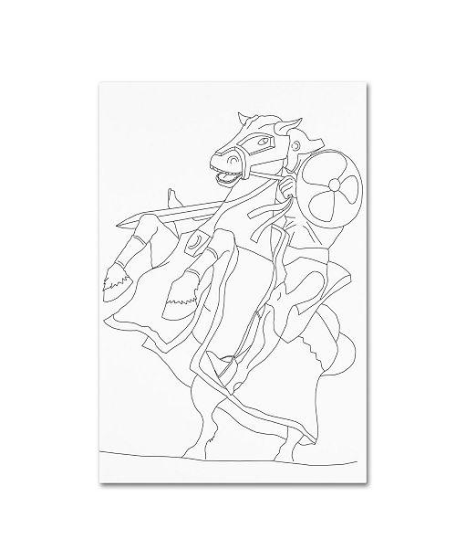 "Trademark Global Miguel Balbas 'Knight' Canvas Art - 47"" x 30"" x 2"""