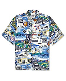 Authentic MLB Apparel Men's New York Yankees Aloha Print Button Up