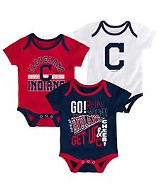 Baby Cleveland Indians Newest Rookie 3 Piece Bodysuit Set