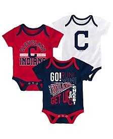 Outerstuff Baby Cleveland Indians Newest Rookie 3 Piece Bodysuit Set
