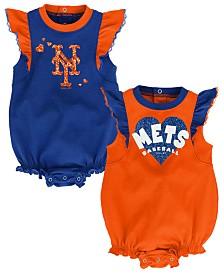Outerstuff Baby New York Mets Double Trouble Bodysuit Set