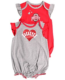 Outerstuff Baby Ohio State Buckeyes Double Trouble Creeper Set