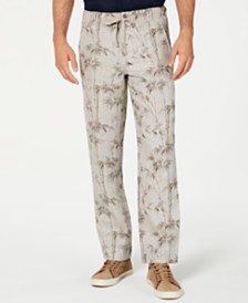Tasso Elba Men's Drawstring Linen Pants, Created for Macy's