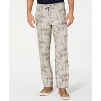 Tasso Elba Mens Drawstring Linen Pants