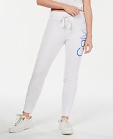 Calvin Klein Performance Ombré-Logo Step-Hem Joggers
