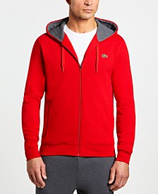 Men's Sport Long Sleeve Full Zip Fleece Hoodie