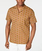 9e863ff5 Tasso Elba Men's Medallion-Print Camp Collar Silk Shirt, Created for Macy's