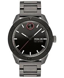 Movado Men's Swiss Bold Gunmetal Ion-Plated Stainless Steel Bracelet Watch 43.5mm
