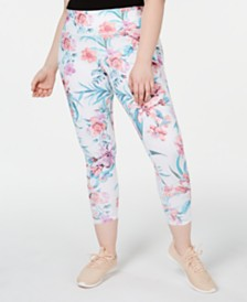 Ideology Plus Size Palm Printed Leggings
