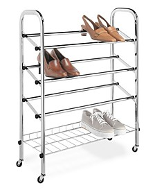 Adjustable Rolling Shoe Rack