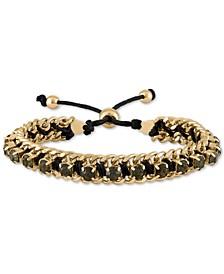 Gold-Tone Crystal Friendship Slider Bracelet