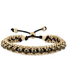 RACHEL Rachel Roy Gold-Tone Crystal Friendship Slider Bracelet