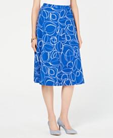 Alfani Printed A-Line Midi Skirt, Created for Macy's