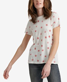 Lucky Brand Cotton Allover Stars Short-Sleeve T-Shirt