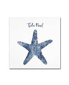 """Tina Lavoie 'Starfish Tide Pool' Canvas Art - 18"""" x 18"""" x 2"""""""