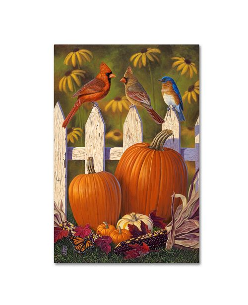 "Trademark Global Jeffrey Hoff 'Autumn Harvest' Canvas Art - 19"" x 12"" x 2"""
