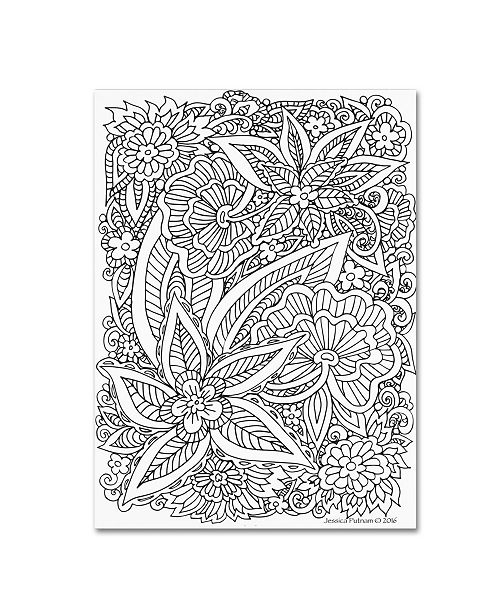 "Trademark Global Jessica Putnam 'Floral 50' Canvas Art - 24"" x 18"" x 2"""