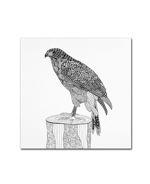 "Trademark Global The Tangled Peacock 'Eagle' Canvas Art - 18"" x 18"" x 2"""
