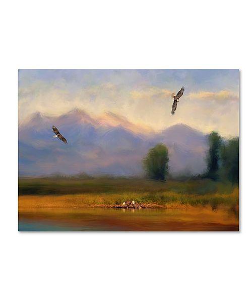 "Trademark Global Jai Johnson 'Where Eagles Play' Canvas Art - 24"" x 18"" x 2"""