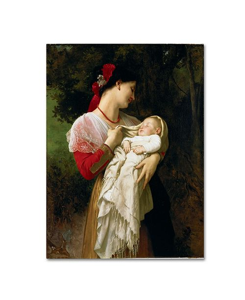 "Trademark Global William-Adolphe Bouguereau 'Mother and Child' Canvas Art - 47"" x 35"" x 2"""