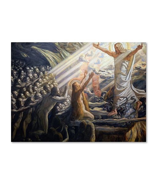 "Trademark Global Joakim Skovgaard 'Christ In The Realm Of The Dead' Canvas Art - 24"" x 18"" x 2"""