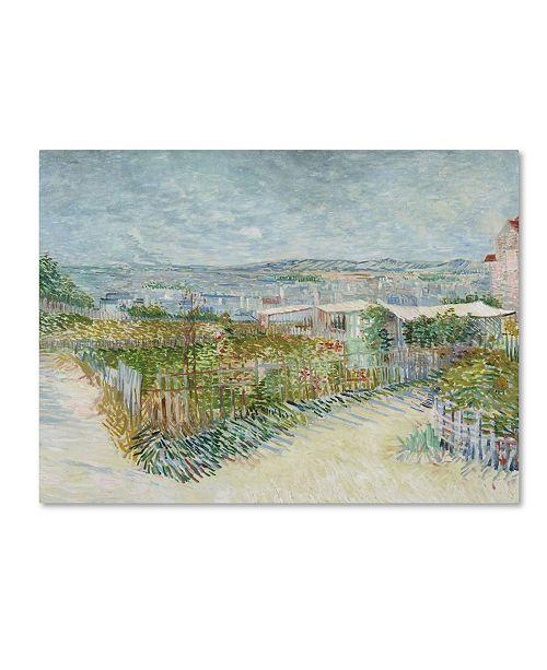 "Trademark Global Van Gogh 'Montmartre Behind The Moulin De La Galette' Canvas Art - 47"" x 35"" x 2"""
